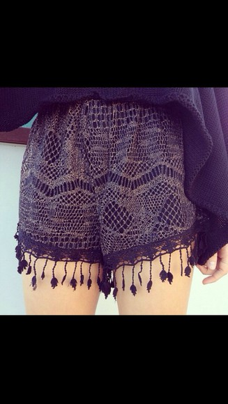 fringe shorts dark purple, print shorts