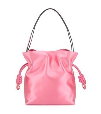 bag shoulder bag satin pink