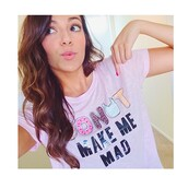 donut,make,me,mad,colorful,brand,celebrity,bethany mota,name,t-shirt