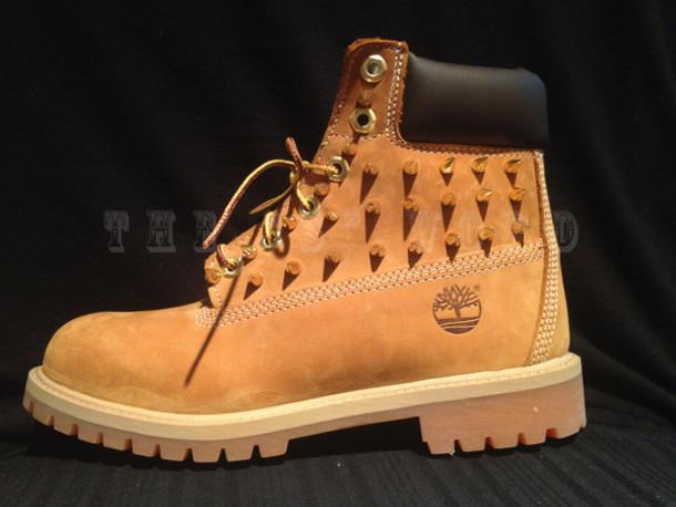 bac7b132a0f3 shoes timberland leopard timberlands timberlands custom shoes customs  studded timbs boots custom boots spiked timberlands spiked