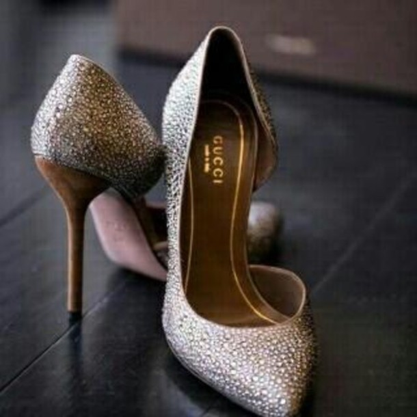 bag shoes gucci shoes heels pumps sparkly heels wedding shoes