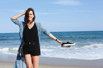 style scrapbook blogger shorts tank top top shoes bag