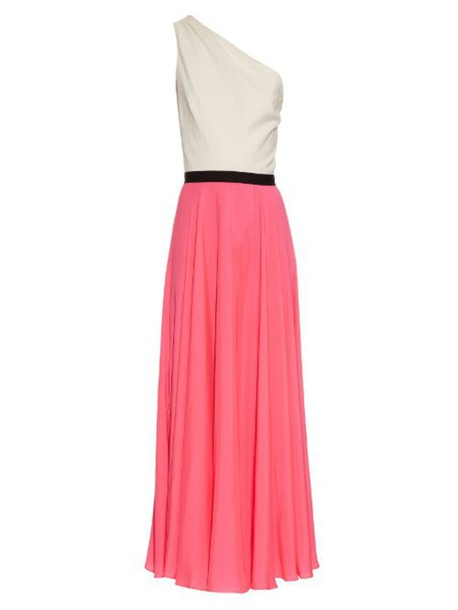 Emilio De La Morena dress cotton white pink