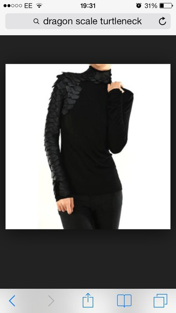 blouse turtleneck top tight dragon scales winter outfits