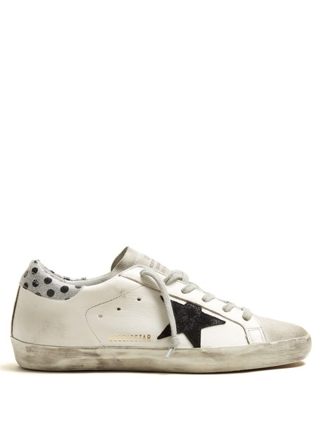 GOLDEN GOOSE DELUXE BRAND top leather white black