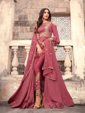 dress,partywear anarkali suit,ethnic wear,bollywood suits,sonal chauhan