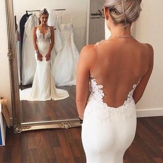 dress white dress prom dress long prom dress wedding dress lace wedding dress lace dress lace