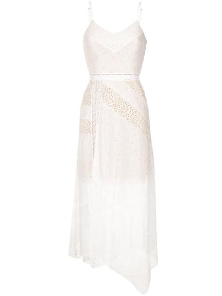 dress midi dress women midi lace white cotton