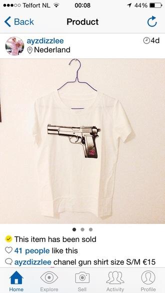 shirt gun chanel gun shirt chanel t-shirt