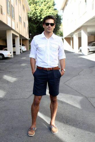 shorts preppy khaki sperry sperrys menswear fred perry