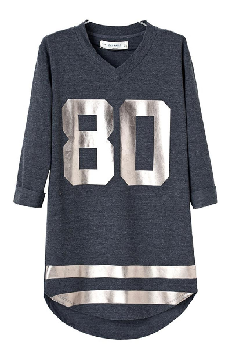 Autumn & Winter New Section Loose Straight Printed Casual Long Section Sweater,Cheap in Wendybox.com
