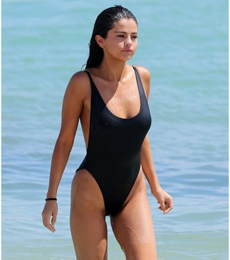 swimwear monokini monokini swimsuit one piece swimsuit black high rise one piece swimwear glamour black swimwear black selena gomez bikini one piece free vibrationz