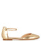Ankle-strap leather flats