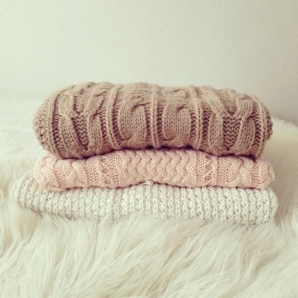 sweater worm white