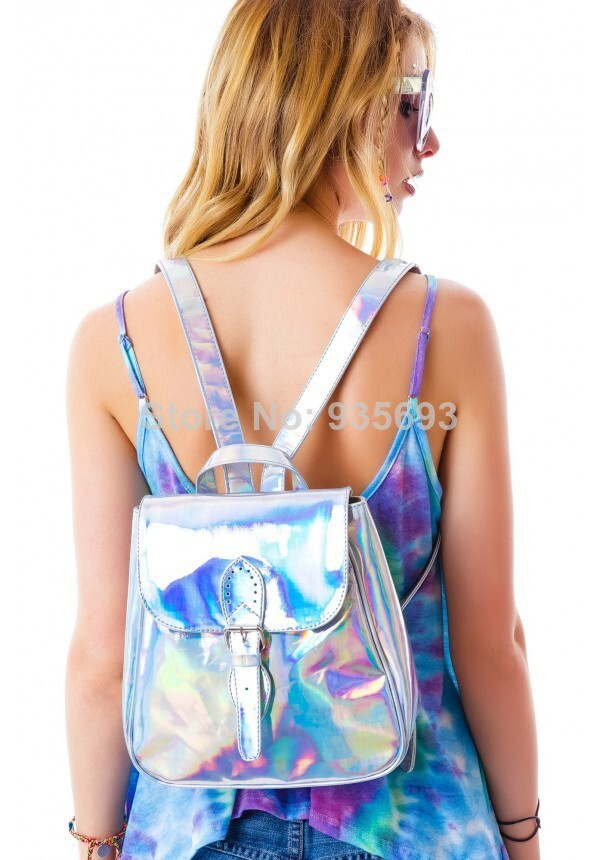 Aliexpress.com : Buy New Arrivel Metal Rainbow Hologram Backpack Laser Reflective Handbag Mirror Surface Mini Backpack from Reliable backpack rolling suppliers on Online Store 935693