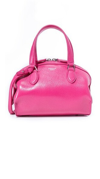 bag leather bag leather pink bright
