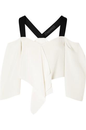 top cold white silk knit