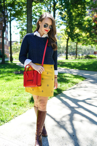covering bases curvy blogger skirt shoes sweater bag sunglasses make-up jewels fall colors