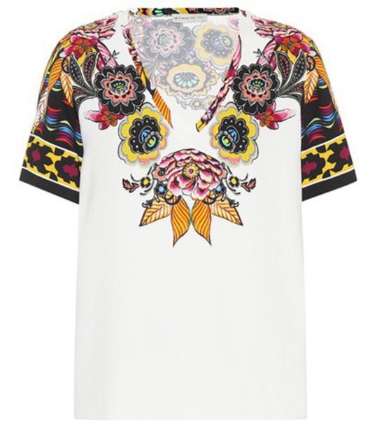 ETRO t-shirt shirt printed t-shirt t-shirt white top