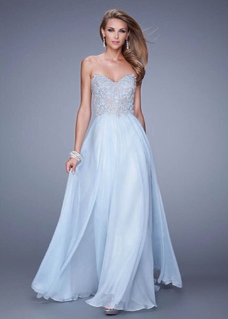 dress la femme pale blue blue light grad prom