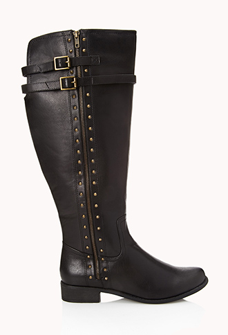 Wide Calf Studded Boots | FOREVER21 PLUS - 2000111249