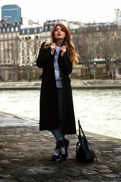 la georgienne blogger jeans shoes coat bag