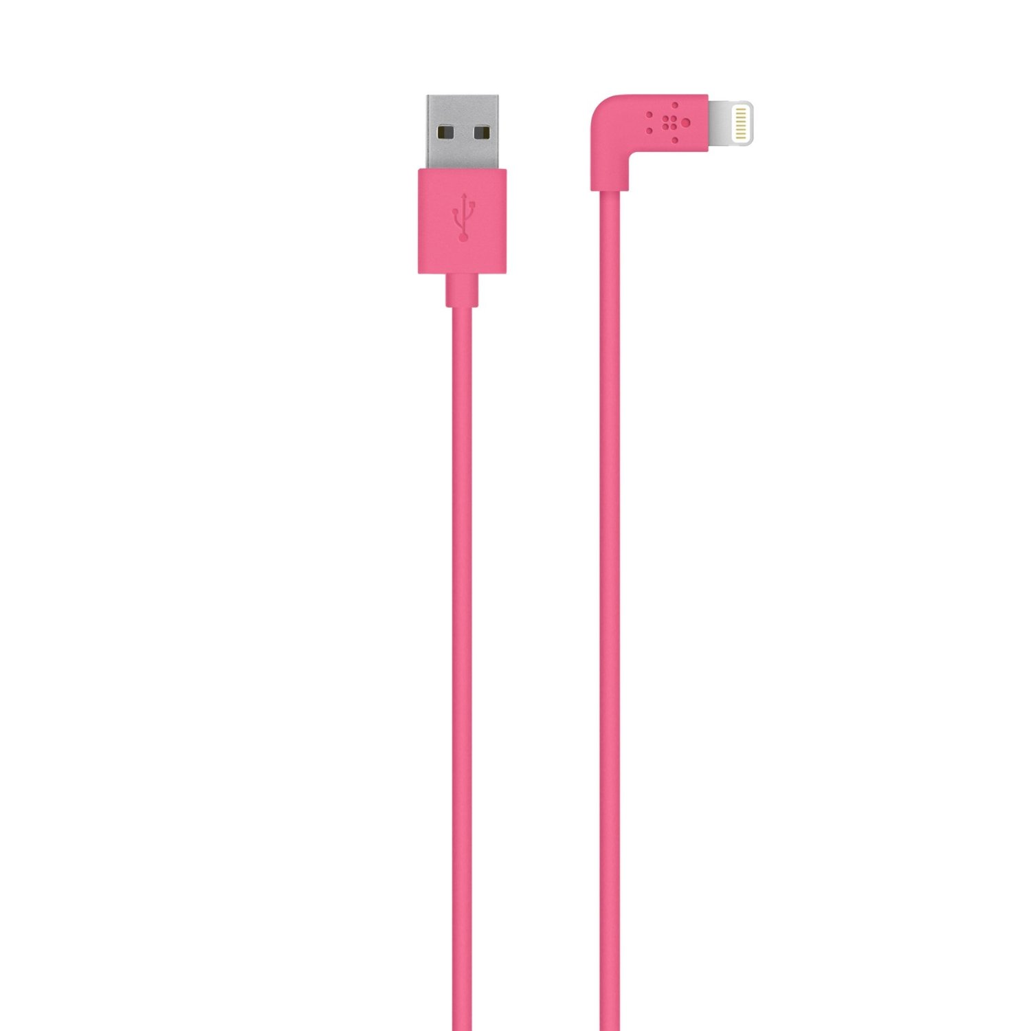 Amazon.com: Belkin Apple MFi Certified 4-Foot 90 Degree Lightning to USB Charge Sync Cable for iPhone 6S / 6S Plus, iPhone 6 / 6 Plus, iPhone 5 / 5S /5c and iPod touch 5th Gen (Pink): Cell Phones & Accessories