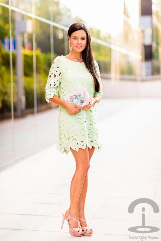 Mint crochet summer dress