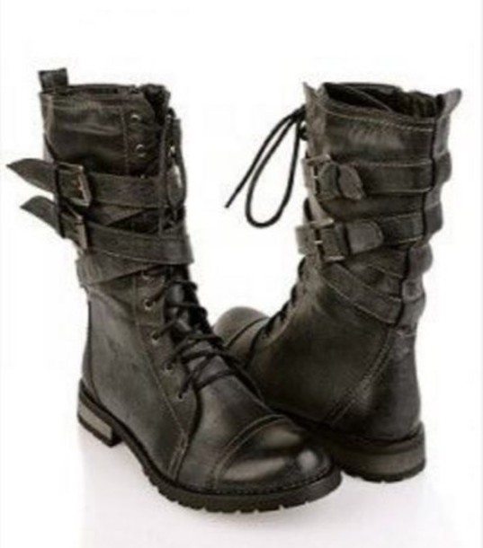 Beautiful Avenue  Avenue Grey Heeled Combat Boots Women39s 11W
