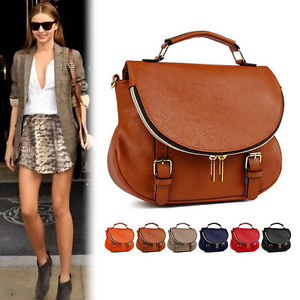 Womens Handbag Faux Leather Shoulder Messenger Tote Cross Body Bag Satchel Purse