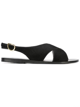 cross criss cross sandals black shoes