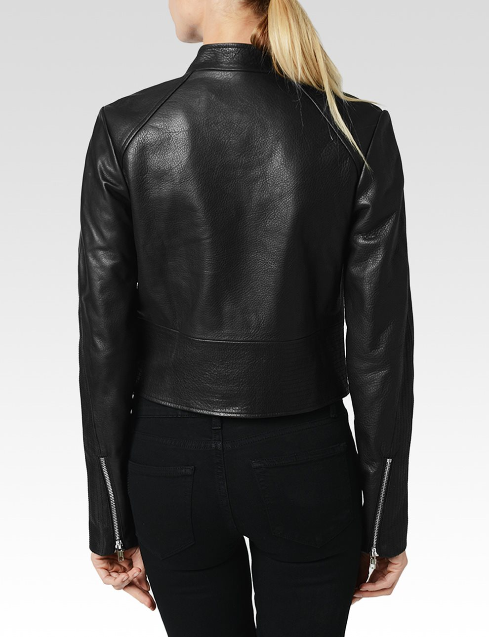 Bevan Jacket - Black Leather | Paige USA