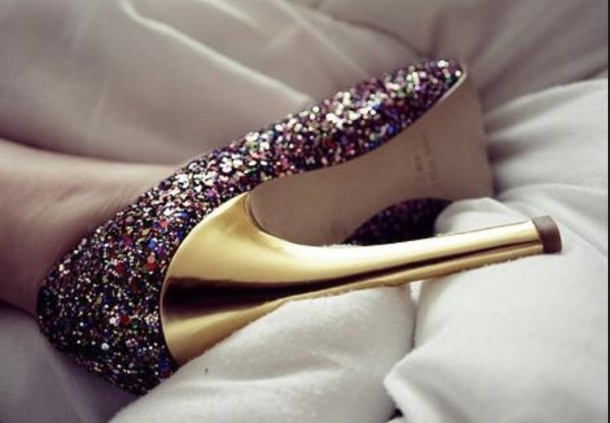 shoes high heels sparkle girly cute