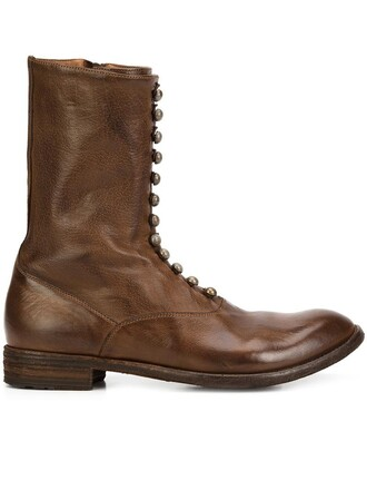 women boots leather brown shoes