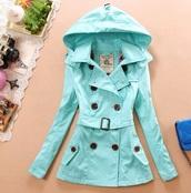 coat,tiffany blue,raincoat,turquoise,trench coat