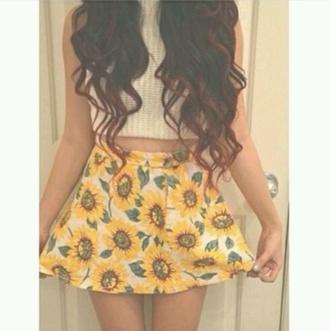 skirt sunflower sunflower
