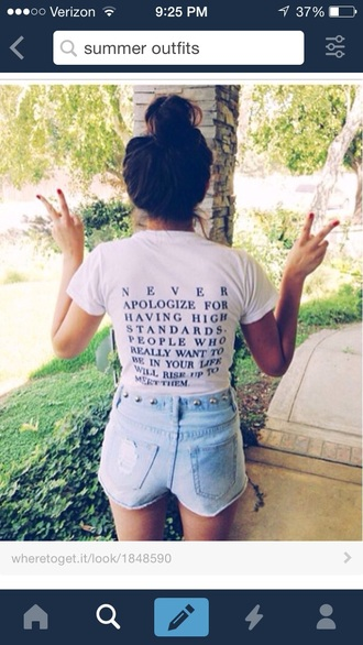shirt quote on it white t-shirt