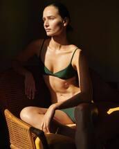 bra,green bra,underwear