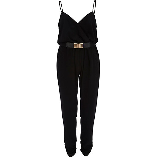 Lastest Womens 34 Length Jumpsuit With Belt Bandeau Playsuit Catsuit Sizes 8