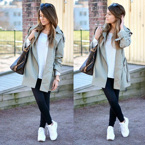 mariannan coat scarf bag shoes jeans