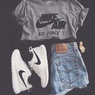 shirt nike air grey t-shirt grey gray