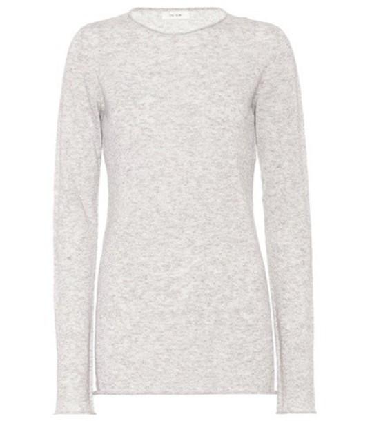 The Row sweater silk grey