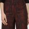 Red python print wide leg crop trouser | sosandar
