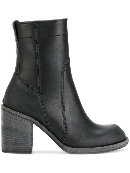 Haider Ackermann women ankle boots leather black shoes
