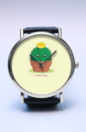 jewels,watch,handmade,style,fashion,vintage,etsy,lovutimepieces,summer,spring,trendy,fashion trend,father's day,fathers day,gift ideas,new,cactus,plants,hug,i need a hug,pot