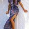 Bohemia style floral print dress