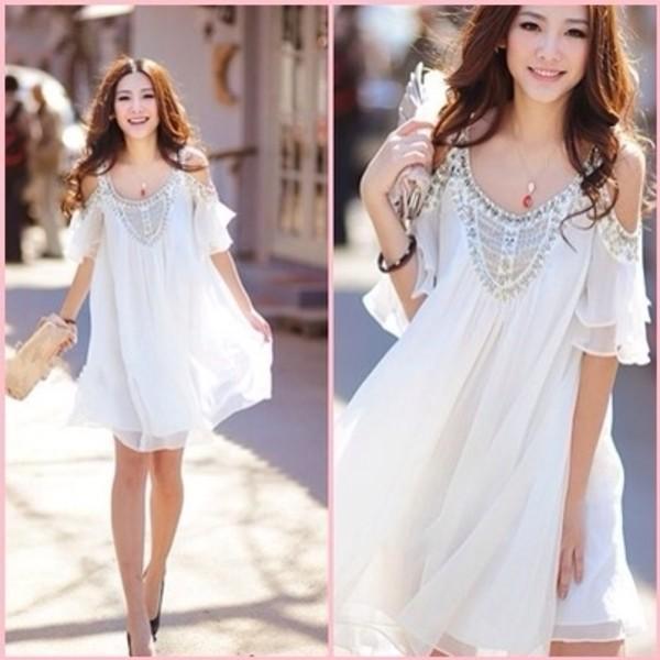 dress white dress shift dress high heels