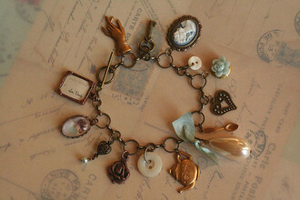 jewels vintage cameo gloves teapot bracelets button
