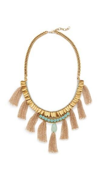 necklace gold mint jewels
