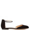Ankle-strap suede flats